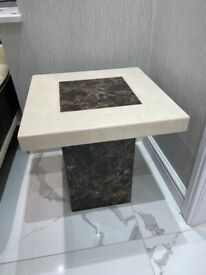 Marble Lamp Table with brown insert