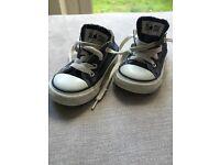 Infants converse trainers - denim size 6