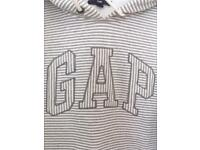 GAP - Ladies Sweatshirt / Hoodie GREY / BEIGE Stripped - SIZE Small (UK 8-10)