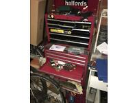 Halford 2 piece 16 drawer tool chest