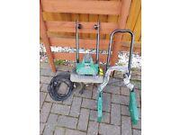 Powerplus 1050 Watt, 320mm Electric Garden Tiller Cultivator Rotavator with 4 Steel Tines POW6467