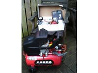 A Cobra Air Compressor and accessories, little used.