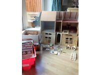 Dolls House & Furniture 1/12th scale Part built. Precut easy to make Furniture