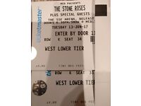 X2 Seated ticket for The Stone Roses @ SSE Arena, Belfast.