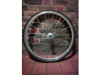 Complete lightweight speedy front wheel for fixie, single speed, fast hybrid, road bike, track hub