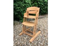 Child's wooden high chair