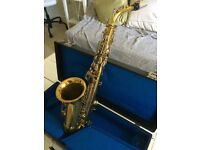 Alto Saxophone with case, music, finger charts, etc. - £180