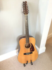 Fender 12 string acoustic guitar Solid wood, vintage (over 30 years old) bargain!