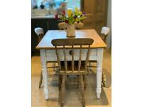 Beautiful antique country table and elm chairs