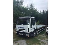 2010 iveco 75e16 eurocargo tilt and slide recovery truck with spec