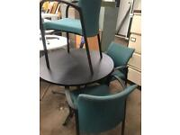 Green & Black Stackable Chairs with Arms