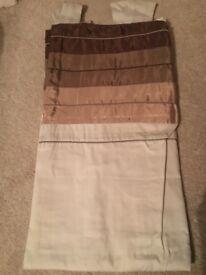 Next faux silk cuff chocolate curtains £10