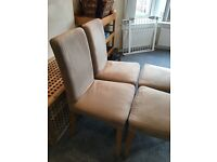 4 x IKEA HENRIKSDAL chairs, great condition, oak frame and natural covers £100, Glasgow collect