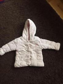 Pink cozy hooded jacket