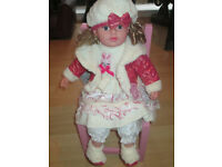 DOLL AND CHAIR BRAND NEW