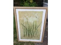 Pair of Framed Flower Pictures , large size -beautiful