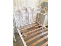 white bed single bed frame
