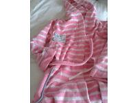Girls Dressing gown - M&S - tatty bear - age 9-10