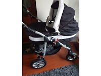 Coral Baby Pram Pushchair 2 in 1