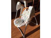 Graco foldaway self swinging baby chair