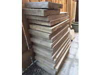 14 Grey Paving Slabs - 600mm x 300mm x 50mm