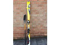 Salomon verge 5.9 skis, and poles