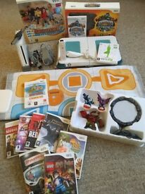 MASSIVE BUNDLE - Nintendo Wii Console + 10 Games + Fit Board + Skylanders + Dance Mat + More