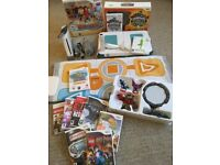 MASSIVE BUNDLE - Nintendo Wii Console + 10 Games + Fit Board + Skylanders + Dance Mat + More