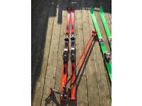 2 x skis & poles