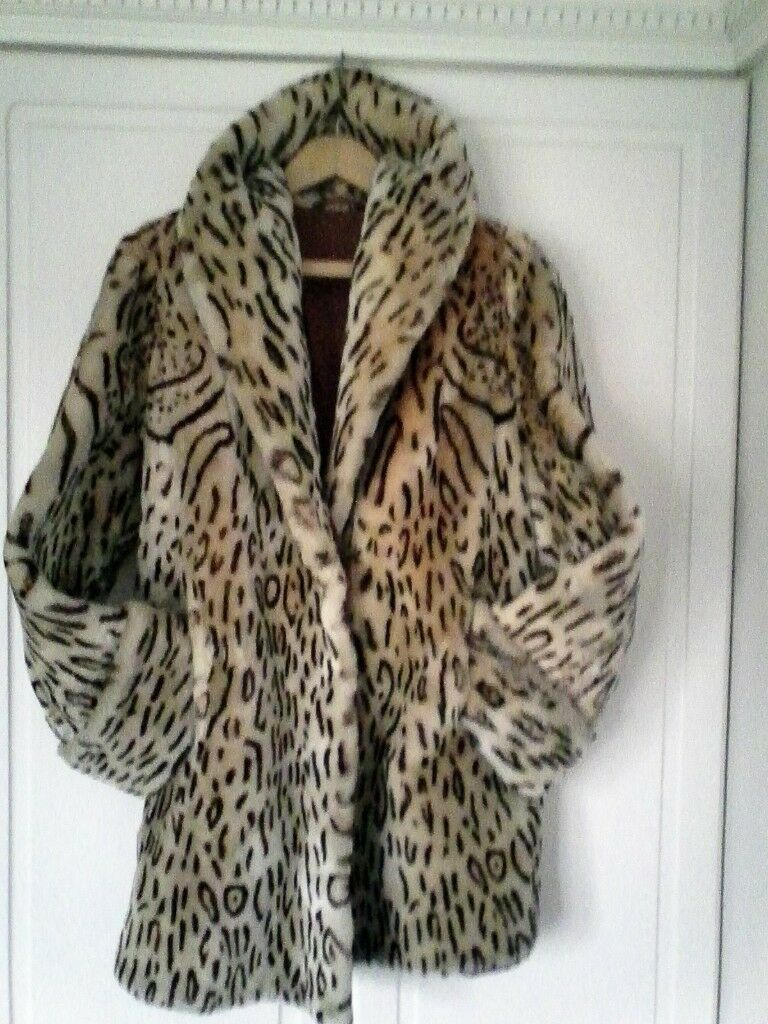 LADIES SHEEPSKIN COAT LOOKS LIKE OCELOT | in Bridlington, East Yorkshire |  Gumtree