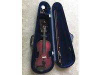 3/4 size purple violin