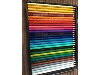 Professional colouring pencils