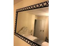 Large diamanté mirror