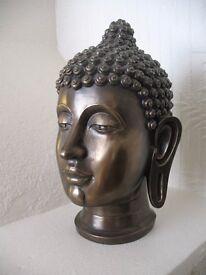 Serene Buddha Head - 27cm high (10.5 inches)