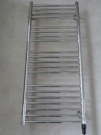 Heated Towel Rail - chrome, electric, ladder style