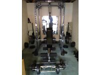 Weightlifting equipment.