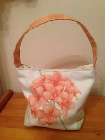 Brand new peach hydrangea handbag