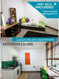 Modern 1 Bedroom Studio Part Bills included