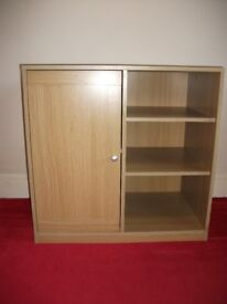 Small Oak Effect Storage Unit - Suitable for Home Office / Study /Bedroom