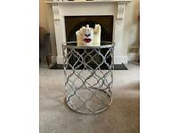 Mirrored silver side table - like new