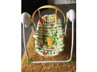 Musical Mothercare Safari Baby Swing