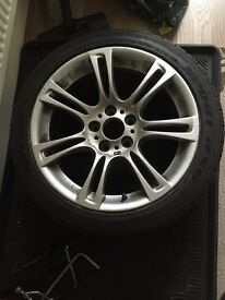 BMW MSPORT ALLOY WITH TYRE