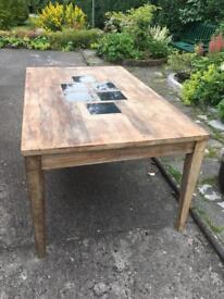 Maple wooden table