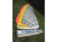 EZZY WINDSURFING SAIL 6.M SLALOM WITH BAG ALL IN VGC BARGAIN NO LONGER REQUIRED