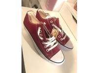 Brand New All-star Converse Trainers (still with labels, Maroon, Size 6) - RRP £50