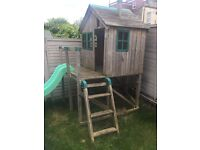 Children's Wooden Playhouse with slide