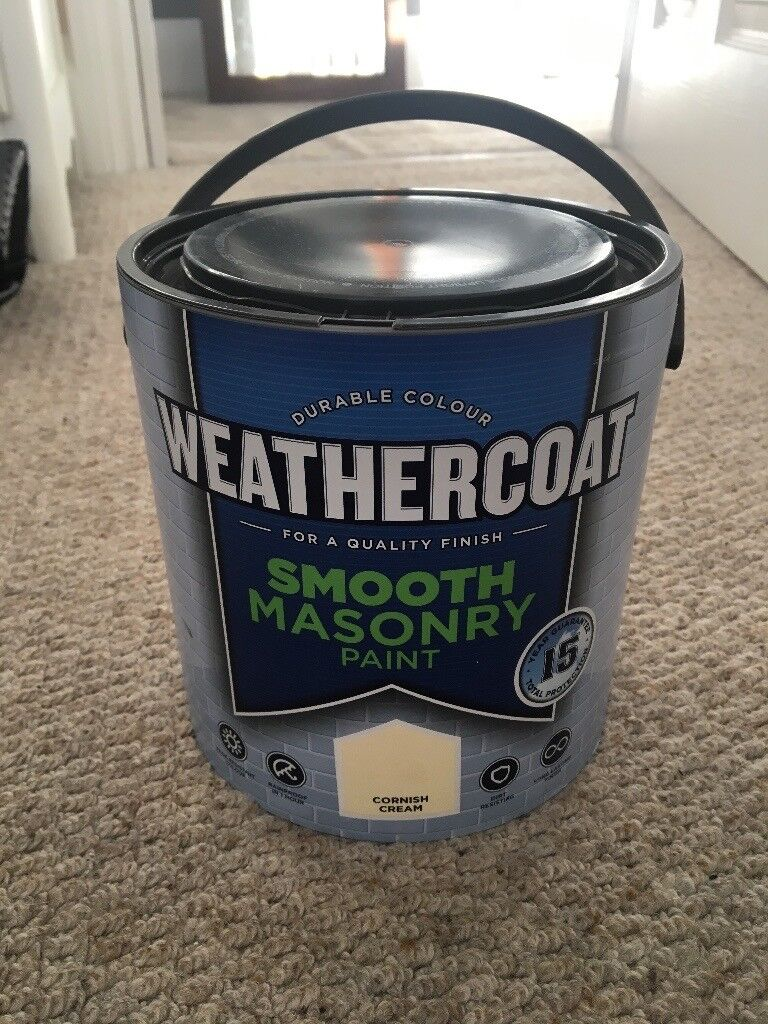 Weathercoat smooth masonry paint
