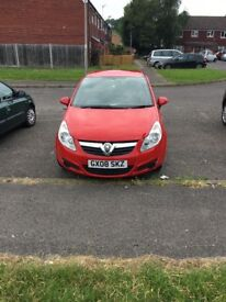 Corsa 2008 1l in a lovely red