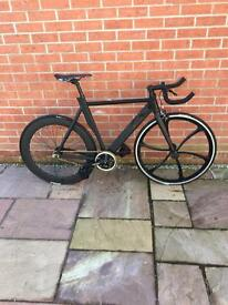 Just Ride It Stealth Fixie Pursuit Fixed Gear Race Bike With Bull Horn Bars