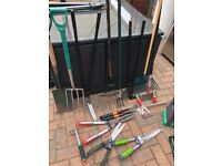Large selection of gardening equipment